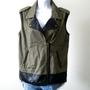 Forever 21 Olive Faux Leather Small
